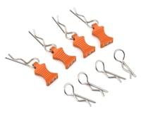 Hot Racing 1/10 Aluminum EZ Pulls w/Body Clips (Orange) (4) (Team Associated Apex)