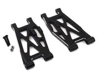 Hot Racing Losi Super Rock Rey Aluminum Lower Front Suspension Arm Set (Black) (2)
