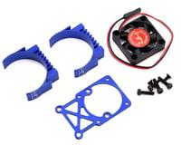 Hot Racing Clip-On Two-Piece Motor Heat Sink w/Fan (Blue)