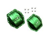 Hot Racing Aluminum AR60 Axle Diff Covers Green Axial Yeti Wrai