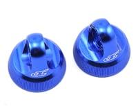 JConcepts Fin Aluminum 12mm V2 Shock Cap (Blue) (2) (Team Associated RC10 B74.1)