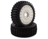 JConcepts Magma Pre-Mounted 1/8 Buggy Tires w/Cheetah Wheel (White) (2) (Traxxas Stampede 4x4)