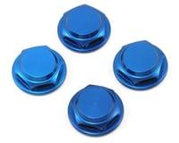 King Headz 17mm Coarse Thread Flanged Closed End Wheel Nut (Blue) (4)