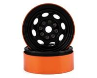 Team KNK Cyclone 1.9 Aluminum Beadlock Wheel (Black) (2)