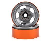 Team KNK 5 Slot 1.9 Aluminum Beadlock Wheel (Natural) (2)