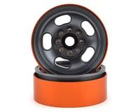 Team KNK 5 Slot 1.9 Aluminum Beadlock Wheel (Grey) (2)