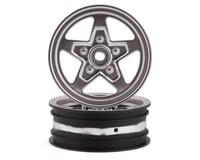 Losi 22S Drag Front Wheel (Satin Chrome) (2) w/12mm Hex