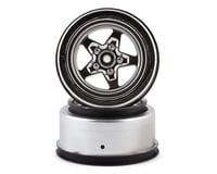 Losi 22S Drag Rear Wheels (Satin Chrome) (2)
