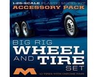 Moebius Model 1/25 Semi Wheels/Tires (10 pk)