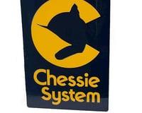 """Microscale Industries 8"""" Die-Cut Metal Sign, Chessie"""