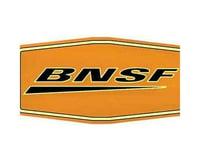 """Microscale Industries 10"""" Die-Cut Metal Sign, BNSF/Wedge"""