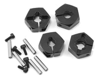 MST CFX-W 6mm Aluminum Hex Wheel Hubs (Black) (4)
