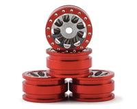 Orlandoo Hunter OH32A02 Aluminum Porous 9 Hole Wheel w/Brake Rotor (Red) (4)