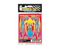 PineCar Cool Blaze Dry Transfer