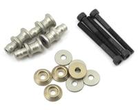 PSM Aluminum MBX7R EV2 Shock Standoff Set (Silver) (4) (Mugen MBX6R)