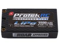 "ProTek RC ""Drag Race"" 2S 120C Si-Graphene + Shorty LiPo Battery (7.4V/5500mAh)"
