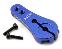 ProTek RC 4mm Aluminum Long Clamping Servo Horn (Blue) (24T-Hitec) (OFNA X3 Sabre)