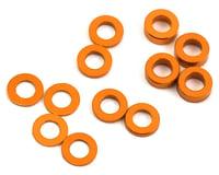 ProTek RC Aluminum Ball Stud Washer Set (Orange) (12) (0.5mm, 1.0mm & 2.0mm) (Yokomo BD8 2017)