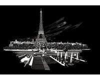 Royal Brush Manufacturing Silver Foil Engraving Art Eiffel Tower