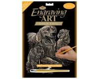 Royal Brush Manufacturing Gold Foil Golden Retriever/Pups