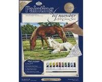 Royal Brush Manufacturing PBN Canvas Horses 11X14