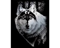Royal Brush Manufacturing Silver Engraving Dragon Wolf