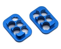 Revolution Design B6/B74 Rear Hub Link Aluminum Inserts (Blue) (2) (Team Associated RC10 B64D)