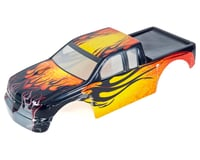 Redcat Rampage MT Pre-Painted Monster Truck Body (Yellow w/Black Flames)