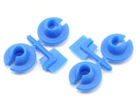 RPM Lower Spring Cups (Blue) (4) (Team Associated MGT)