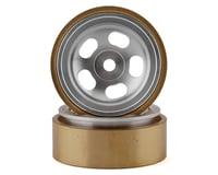 "SSD RC SCX24 1.0"" Aluminum/Brass 5-Slot Beadlock Wheels (2) (Element Enduro24)"