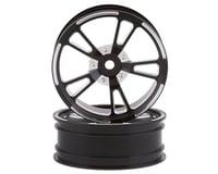"SSD RC V Spoke Aluminum Front 2.2"" Drag Racing Wheels (Black) (2)"