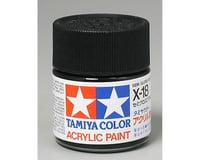 Tamiya X-18 Black Semi-Gloss Acrylic Paint (23ml)