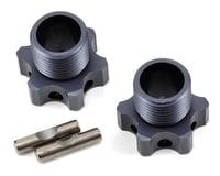 Tekno RC NT48 Aluminum 17mm Lightened Hex Wheel Hub Set (Gun Metal) (2) (+2mm Offset)