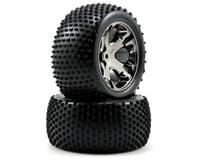 Traxxas Alias Rear Tires w/All-Star Wheels (2) (Chrome)