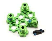 Traxxas 17mm Splined Wheel Hub Set (Green) (4)