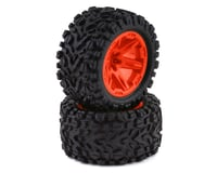 "Traxxas Rustler 4x4 Talon EXT TSM 2.8"" Pre-Mounted Tires w/RXT Wheels (2) (Orange)"