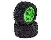 "Traxxas Rustler 4x4 Talon EXT TSM 2.8"" Pre-Mounted Tires w/RXT Wheels (2) (Green)"