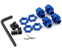 Traxxas Aluminum 17mm Wheel Adapter Set (Blue) (4)
