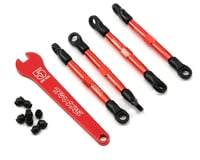 Traxxas 1/16 Mustang Aluminum Toe Links (Red) (4) (Front/Rear)