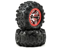 Traxxas Pre-Mounted Canyon AT Tires (Geode Beadlock) (2) (Chrome/Red)
