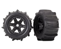 """Traxxas Paddle Tires 3.8"""" Pre-Mounted w/Monster Truck Wheels (Black)"""