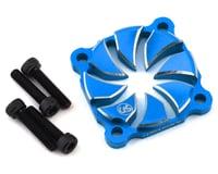 Usukani Aluminum Dissilent Fan Cover (Yokomo Blue) (MST RMX 2.0 S)