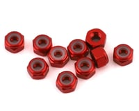 V-Force Designs 3mm Aluminum Lock Nut (Red) (10)