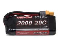 Venom Power 2S LiPo 20C Mini Battery Pack w/UNI 2.0 Connector (7.4V/2000mAh)