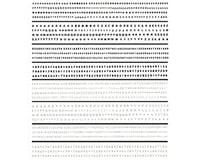 Woodland Scenics Mini Lettering Dry Transfer, Black/White