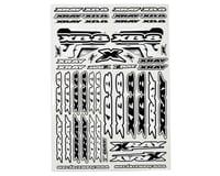 Xray XB8 Sticker Sheet (White) (XRAY XB808E 2015)