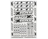 Xray RX8 Sticker Sheet (White) (XRAY 2017)