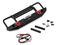 Yeah Racing Aluminum Front Bumper w/LED Light (Black)