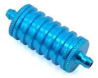 Yeah Racing Aluminum Exhaust Gas/Fuel Cooler (Blue)