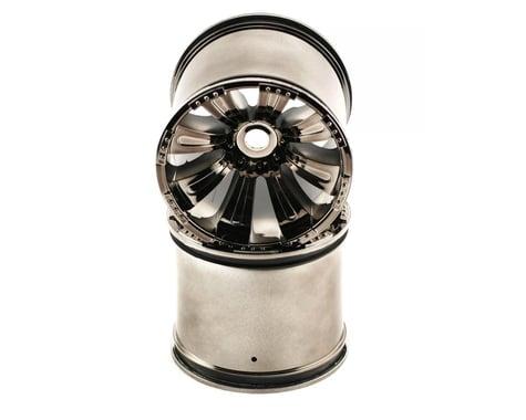 Axial 8 Spoke Oversize Monster Truck Wheel (2) (Black Chrome)